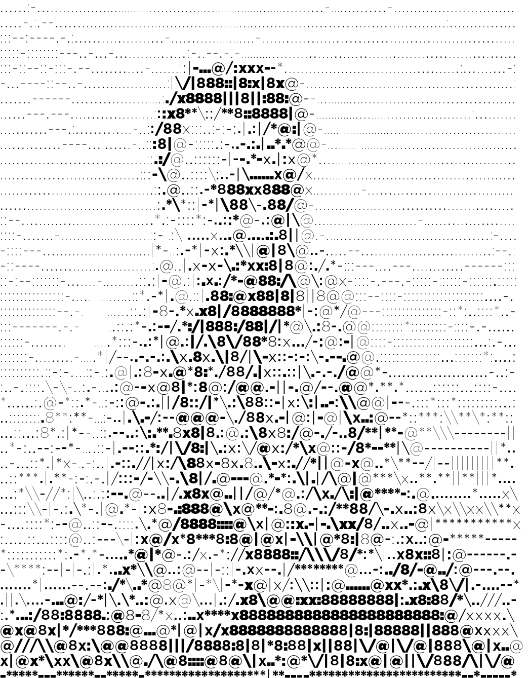 Single Line Text Art : Data visualization design and information munging