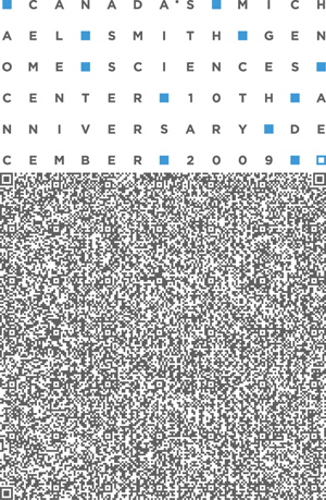 Genome Sciences Center 10th Anniversary Commemorative Graphic - QR Code