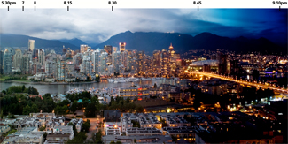 Lumondo Photography - Martin Krzywinski - High Dynamic Time Range Photography - Vancouver Skyline